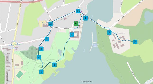 Karte Fontaneweg Plaue